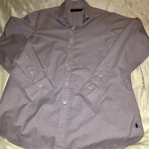 Polo Custom Fit Button Front Dress Shirt